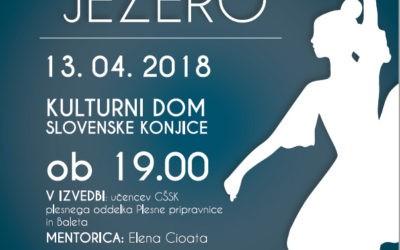 Predstava Labodje jezero v izvedbo učencev glasbene in baletne šole Slovenske Konjice